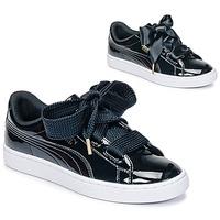 Încăltăminte Femei Pantofi sport Casual Puma BASKET HEART PATENT WN'S Negru / Verni