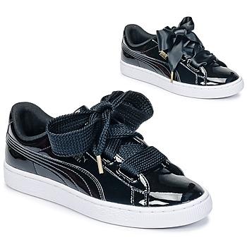 Pantofi Femei Pantofi sport Casual Puma BASKET HEART PATENT WN'S Negru / Verni