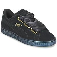 Încăltăminte Femei Pantofi sport Casual Puma BASKET HEART SATIN WN'S Negru