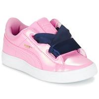 Pantofi Fete Pantofi sport Casual Puma BASKET HEART PATENT PS Roz / Bleumarin