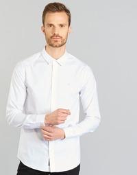 Îmbracaminte Bărbați Cămăsi mânecă lungă Calvin Klein Jeans WILBERT Alb