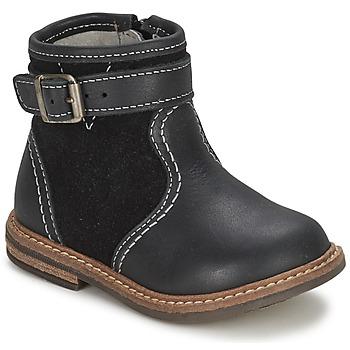 Pantofi Băieți Ghete Citrouille et Compagnie LOOPI Negru