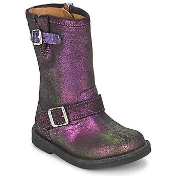 Pantofi Fete Cizme casual Pom d'Api HIKE BIKER Violet