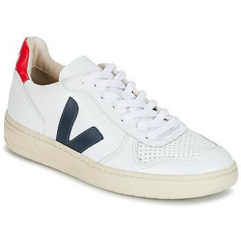 Încăltăminte Pantofi sport Casual Veja V-10 Alb / Albastru / Roșu