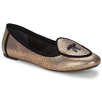 Pantofi Femei Balerin și Balerini cu curea Etro 3078 Auriu