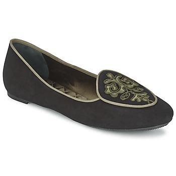 Pantofi Femei Balerin și Balerini cu curea Etro 3059 Negru / Kaki
