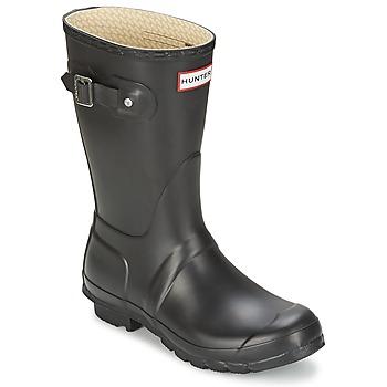 Pantofi Femei Cizme de cauciuc Hunter WOMEN'S ORIGINAL SHORT Negru