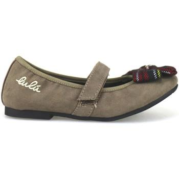 Pantofi Fete Balerin și Balerini cu curea Lulu AH262 Bej