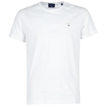 Îmbracaminte Bărbați Tricouri mânecă scurtă Gant THE ORIGINAL T-SHIRT Alb