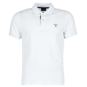 Îmbracaminte Bărbați Tricou Polo mânecă scurtă Gant CONTRAST COLLAR PIQUE Alb
