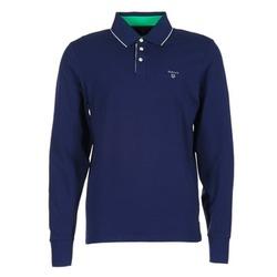 Îmbracaminte Bărbați Tricou Polo manecă lungă Gant 3-COL CONTAST RUGGER Bleumarin