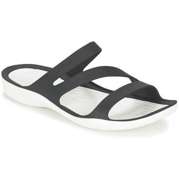 Pantofi Femei Sandale și Sandale cu talpă  joasă Crocs SWIFTWATER SANDAL W Negru / Alb