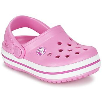 Pantofi Fete Saboti Crocs Crocband Clog Kids Roz