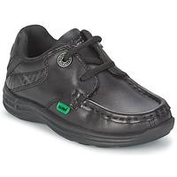 Pantofi Copii Pantofi barcă Kickers REASON LACE Negru
