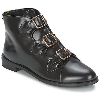 Pantofi Femei Botine F-Troupe Triple Buckle Boot Black