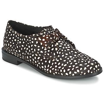 Pantofi Femei Pantofi Derby F-Troupe Bow Polka Black / White