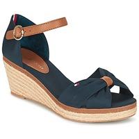 Pantofi Femei Sandale  Tommy Hilfiger ELBA 40D Bleumarin / Maro