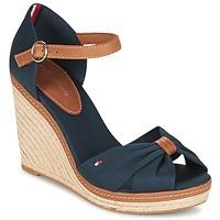 Pantofi Femei Sandale și Sandale cu talpă  joasă Tommy Hilfiger ELENA 56D Bleumarin / Maro