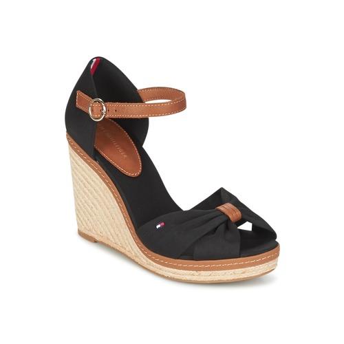 Pantofi Femei Sandale  Tommy Hilfiger ELENA 56D Negru / Maro