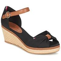 Încăltăminte Femei Sandale și Sandale cu talpă  joasă Tommy Hilfiger ELBA 40D Negru / Maro