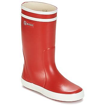 Pantofi Copii Cizme de ploaie Aigle LOLLY POP Roșu / Alb