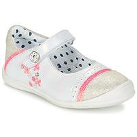 Pantofi Fete Balerin și Balerini cu curea Catimini PIPISTRELLE Vte / Alb-fluorescent / Dpf / Zafra