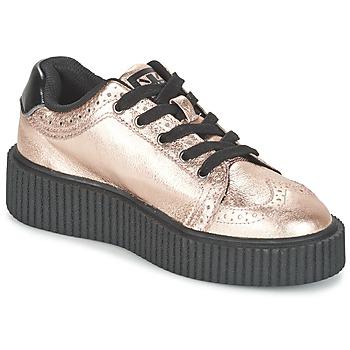 Pantofi Femei Pantofi sport Casual TUK CASBAH CREEPERS Roz /  metalic