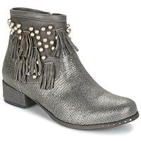 Pantofi Femei Ghete Mimmu MOONSTROP Taupe / Argintiu