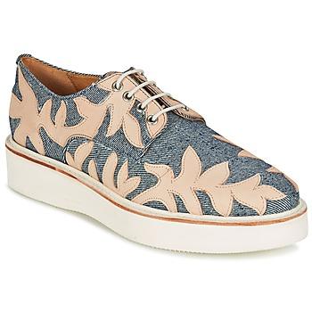 Pantofi Femei Pantofi Derby Melvin & Hamilton MOLLY 11 Albastru / Bej