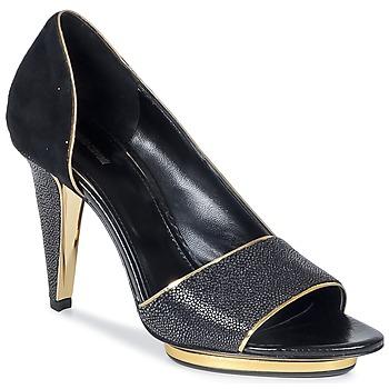 Pantofi Femei Sandale și Sandale cu talpă  joasă Roberto Cavalli YDS637-UF013-05051 Negru