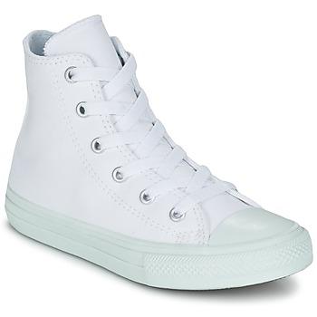 Pantofi Fete Pantofi sport stil gheata Converse CHUCK TAYLOR ALL STAR II PASTEL SEASONAL TD HI Alb / Albastru / Albastru-cerului