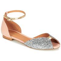 Pantofi Femei Sandale și Sandale cu talpă  joasă Emma Go JULIETTE Roz / Argintiu / Auriu
