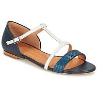 Pantofi Femei Sandale și Sandale cu talpă  joasă Emma Go KEIRA Bleumarin / Alb