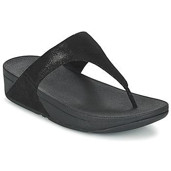 Încăltăminte Femei  Flip-Flops FitFlop SHIMMY SUEDE TOE-POST Negru