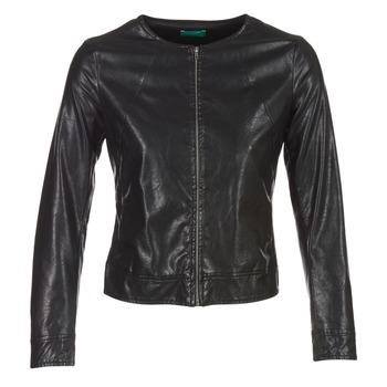 Îmbracaminte Femei Jachete din piele și material sintetic Benetton JANOURA Negru