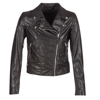 Îmbracaminte Femei Jachete din piele și material sintetic Benetton FAJOLI Negru