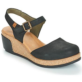 Pantofi Femei Sandale și Sandale cu talpă  joasă El Naturalista LEAVES Negru