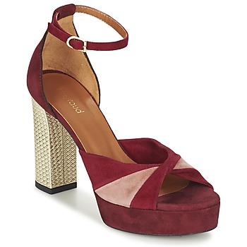 Pantofi Femei Sandale  Heyraud EVELINE Roșu / Roz / Auriu