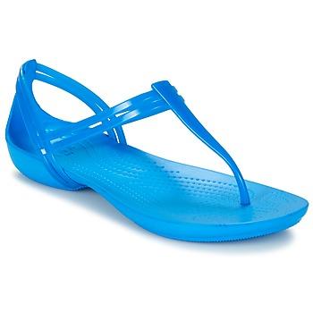 Pantofi Femei Sandale și Sandale cu talpă  joasă Crocs CROCS ISABELLA T-strap Blue