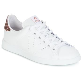 Pantofi Femei Pantofi sport Casual Victoria DEPORTIVO BASKET PIEL Alb / Roz / Glitter