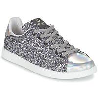 Încăltăminte Femei Pantofi sport Casual Victoria DEPORTIVO BASKET GLITTER Argintiu