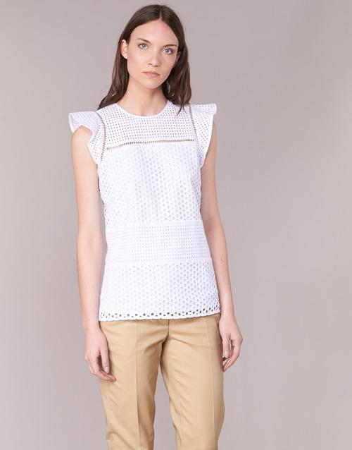 Îmbracaminte Femei Topuri și Bluze MICHAEL Michael Kors COMBO EYELET S/S Alb