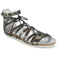 Pantofi Femei Sandale și Sandale cu talpă  joasă Regard RABAZO Negru / Argintiu