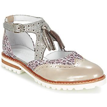 Pantofi Femei Pantofi Derby Regard ROAXO Bej / Argintiu
