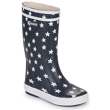 Pantofi Copii Cizme de ploaie Aigle LOLLY POP PRINT Bleumarin /  multicolor