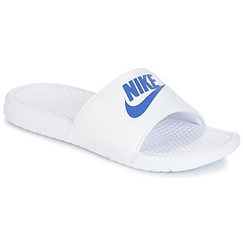 Pantofi Bărbați Șlapi Nike BENASSI JUST DO IT Alb / Albastru