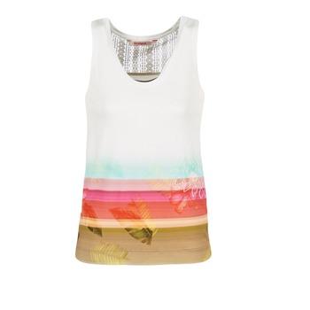 Îmbracaminte Femei Maiouri și Tricouri fără mânecă Desigual TEDERI Alb /  multicolor
