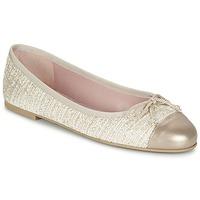 Pantofi Femei Balerin și Balerini cu curea Pretty Ballerinas AMI Auriu / Roz