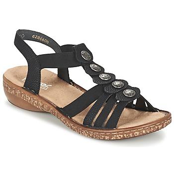 Pantofi Femei Sandale  Rieker MECHAROLO Negru