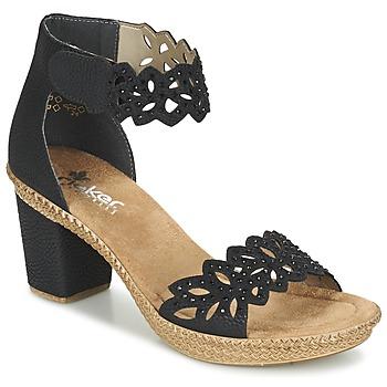 Pantofi Femei Sandale  Rieker POTIRASSE Negru